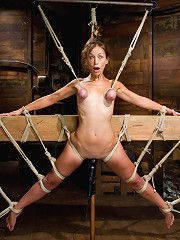 Audrey Rose Challenged with Tough Beam Bondage