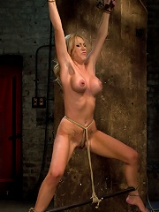 Tickling, flogging, canning. We make her cum over & overCrotch rope & suspend her from wrists!
